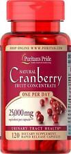 Puritan's Pride One A Day Cranberry 25000 mg x 120 Urinary Tract Health Capsules