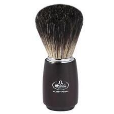 PENNELLO DA BARBA OMEGA PURO TASSO LEGNO badger hair shaving brush 6712 11cm