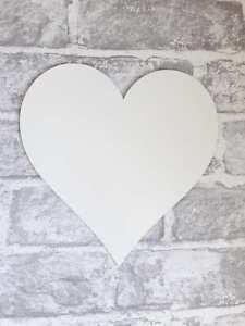 White Wooden Heart shape MDF Craft Blank Tags Embellishments Wedding WE333