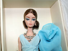 Silkstone Blue Chiffon Ball Gown Barbie Doll, #DYX74, 2017 NRFB