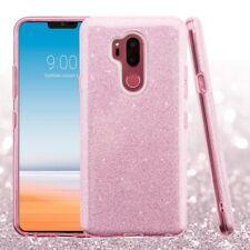 LG G710 G7 Thinq pink glitter 2 LAYER Hybrid TPU CASE USA SELLER
