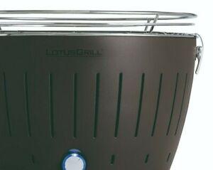 LotusGrill Tischgrill anthrazit USB Anschluss inkl. Kohle Paste Pinsel Zange