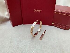 Cartier Love Bracelet Rose Gold Size 16 4 Diamond (New Screw System)❤️