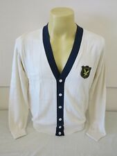 "LYLE & SCOTT VINTAGE RIBBED V NECK CARDIGAN NATURAL/2 CREAM M 40.8"" CHEST NEW"
