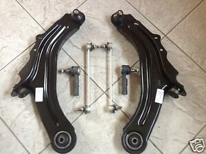 RENAULT CLIO  MK 3 2005 --TWO FRONT LOWER WISHBONE ARMS 2 LINKS 2 TRACK ROD ENDS