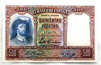 Spain-Billete. 500 Pesetas 1931. Madrid. SC/UNC.