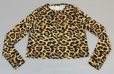 ASOS Women's Collusion Boxy Long Sleeve Top In Leopard Print SH3 Multi Size US:6