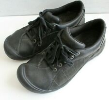 Keen Womens Presidio Black Leather Lace Up Oxford Casual Shoes Sz 10.5 EUC