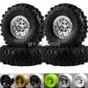 1:10 RC Rock Crawler Beadlock Wheels & Supper Swamper Tires Fits Gmade D90 SCX10