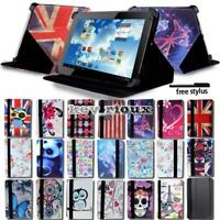 """Leather Stand Folio Cover Case For Various 7"""" 10"""" Denver TAQ Tablet + Stylus"""