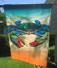 "Blue Crab Flag Beach Nautical - House Large 28 x 40"" 2-Sided Maryland"