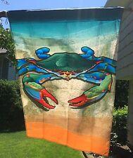 "New listing Blue Crab Flag Beach Nautical - House Large 28 x 40"" 2-Sided Maryland"