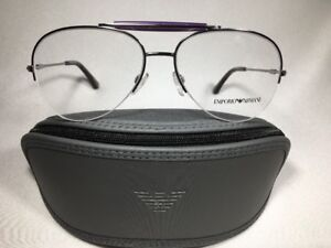 *New Authentic Emporio Armani EA 1020 3010  Chrome Eyeglasses 55mm w/Case