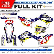 Sherco  2017 2018 Super durable MX Graphics Decals Stickers Decallab