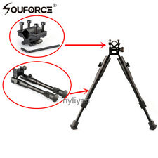 "Metal 8""to10"" Spring Return Foldable BipodW/Barrel adapter Mount For Rifle Scope"
