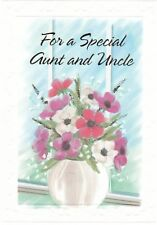 Anniversary Card with Envelope for Aunt & Uncle