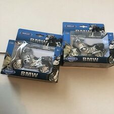1:18 Welly BMW R1100 RT Motorcycle Bike Model Silverlot Of (2) New