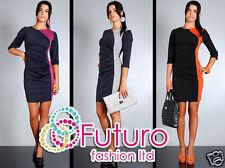 Femmes élégant & Elegance Robe Fourreau Style Col Bateau Taille 8-14 FA33