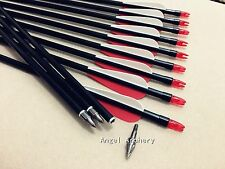 12PK Fiberglass Arrows For Recurve bow&Compound bow hunting arrows