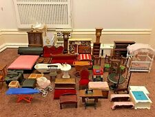 VTG Huge Lot Dollhouse Miniature Furniture Colonial , Victorian