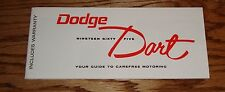 1965 Dodge Dart Owners Operators Manual 65