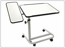 Beistelltisch, weiß, 2-geteilt Bett-Tisch Beistellwagen Krankentisch