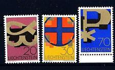 LIECHTENSTEIN - 1967 - Simboli cristiani. Alfa e Omega-Croce-Monogramma di Crist