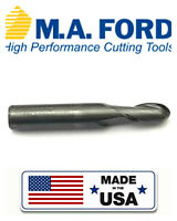 M.A.FORD Solid Carbide End Mill R 7mm Shank Dia 8MM TiAIN Coat 2-Flute  No 27