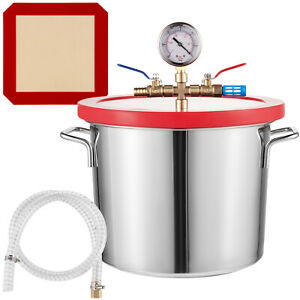 2 Gallon Vacuum Chamber Stainless Steel kit 160ºF Silicone gasket Epoxies