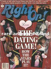 RIGHT ON April 1988 Rare Vintage USA Celebrity Magazine