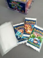 "100x Pokemon Booster Sleeves ""Schutzhüllen bags Folien Base first Edition YuGiOh"