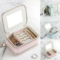 Travel Jewelry Box Portable Organizer Leather Jewellery Ornaments Storage Case