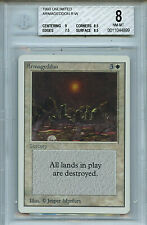 MTG Unlimited Armageddon BGS 8.0 (8) NM-MT Card Magic WOTC Amricons 4899