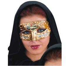 Masque de Venise mordoré, or et ocre avec partition de musique 648ocre carnaval
