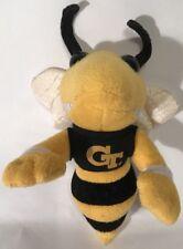 "Vintage Georgia Tech GT Buzz Yellow Jackets 8"" Plush Campus Critters 1998 Mascot"