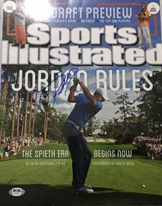 Jordan Spieth Signed Auto Autograph 11x14 Photo Sports Illustrated PSA  #1