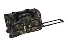 "Men Boys Travel Bag Rolling Trendy Luggage 22"" Duffle Camo Army Military Wheels"