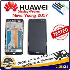 Display LCD + Touch Screen+ FRAME PER Huawei ( NOVA YOUNG ) 2017 MYA-L11 NERO