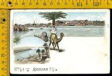 Egiypte Egitto Cover busta Q 642 illustrated postcard Assouan to Italy