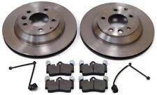 AUDI Q7 3.0 TDi QUATTRO & S LINE REAR 2 BRAKE DISCS AND PADS & SENSORS (330mm)