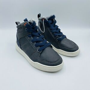 NEW Art Class Boys Geoff High Top Lace Up or Side Zip Sneakers Gray - SIZE 13