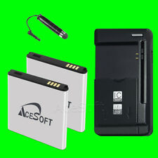 2x Lithium Battery 3150mAh and Charger for Samsung Galaxy S II SGH-T989 T-Mobile