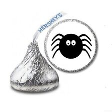 108 SPIDER Halloween Birthday Party Favors Stickers Labels for Hershey Kiss