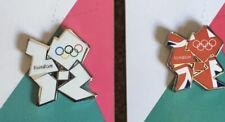 London 2012 Olympic Union Jack & White Logo Pin Badge