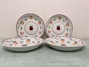 "Princess House set of 4 ""Orchard Medley"" Ind. Pasta Bowls"