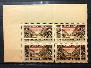 1928 Lebanon Postage Due RECTO-VERSO Block of 4 SG.D145