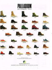 PUBLICITE ADVERTISING 074  1992  PALLADIUM  chaussures  de marche détente 2