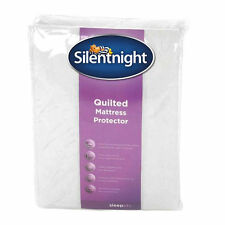 NEW SILENTNIGHT DOUBLE BED SIZE SUPER SOFT QUILTED MATTRESS PROTECTOR BEDDING