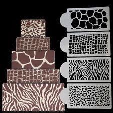 4pcs/Set  Stencil Fondant Molds Cakes And Cupcakes Stencil Baking Cake Tools C1R