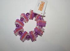 New Gymboree Purple Pink & White Flower Stretch Bracelet NWT Cherry Blossom Line